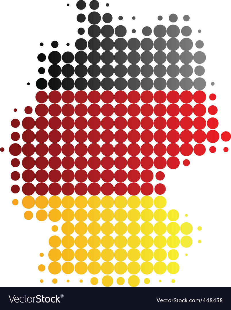 Map and flag of germany vector | Price: 1 Credit (USD $1)