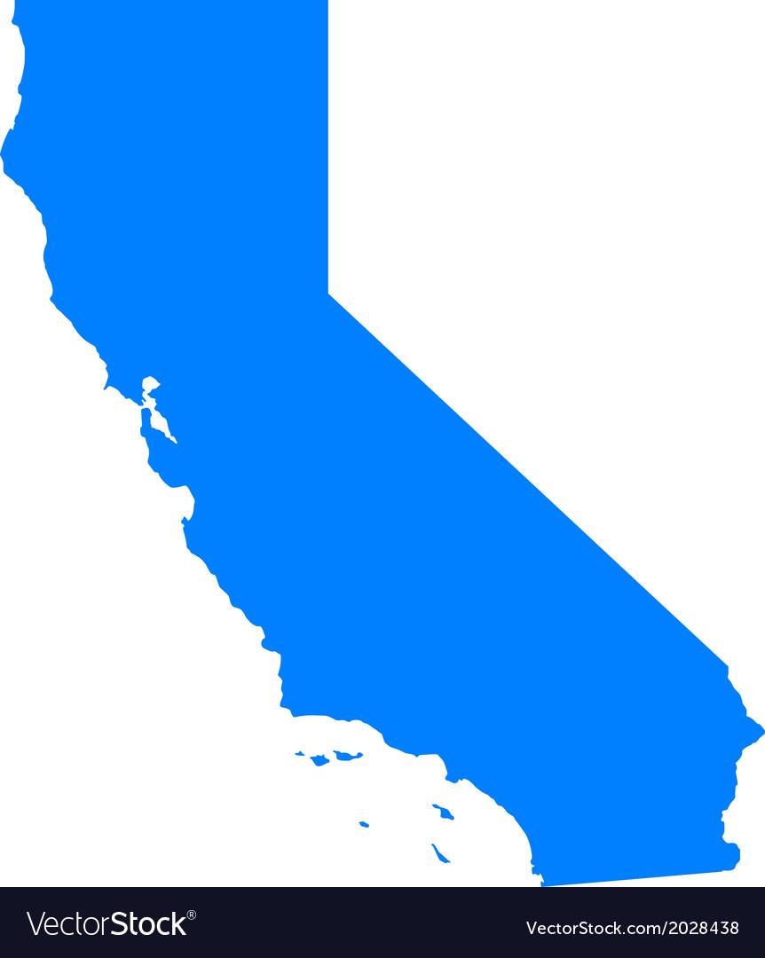 Map of california vector | Price: 1 Credit (USD $1)