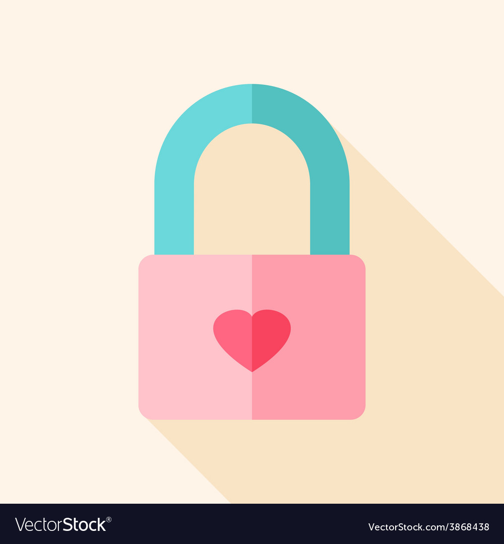 Padlock with heart vector | Price: 1 Credit (USD $1)