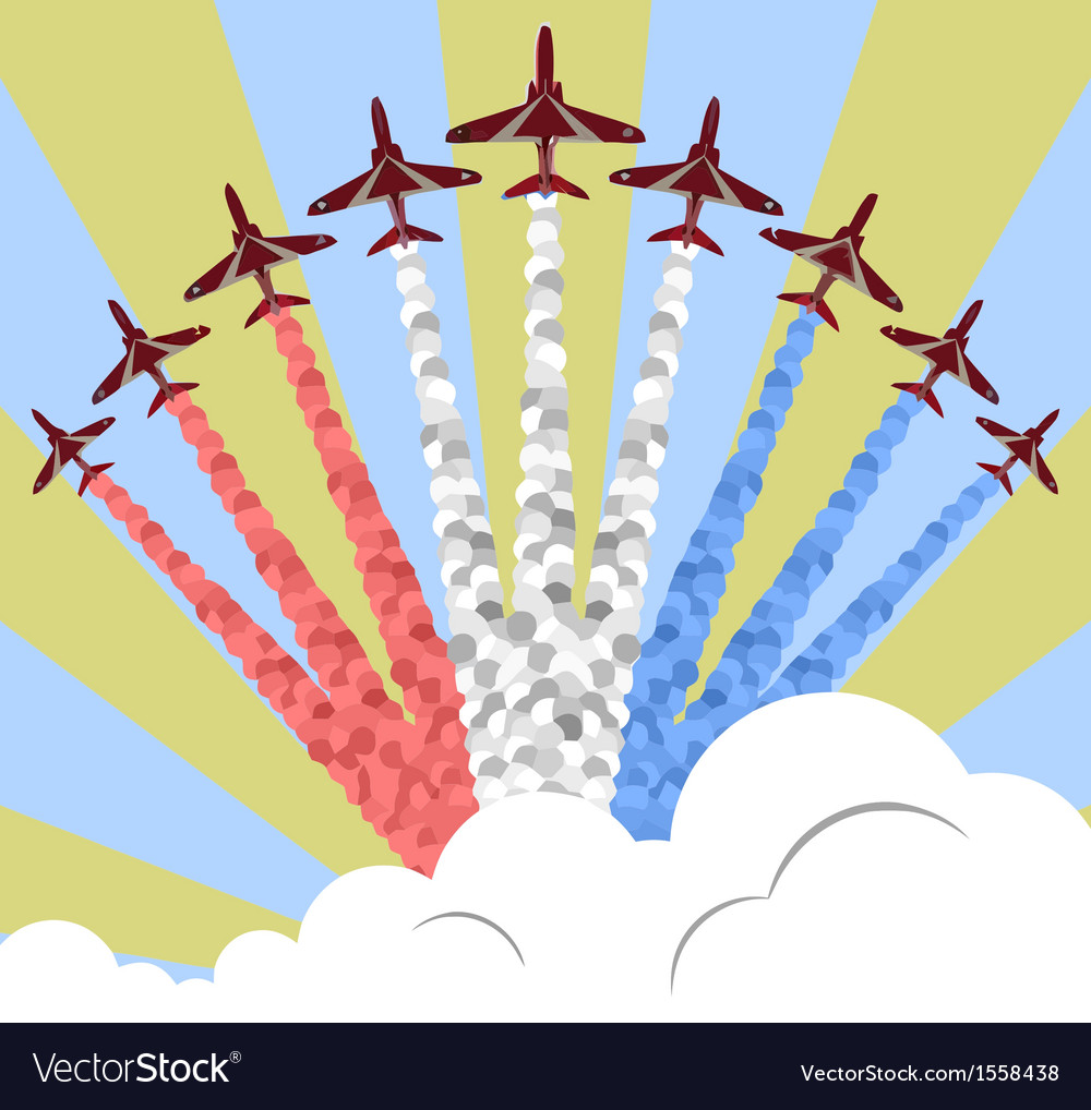 Red arrows vector