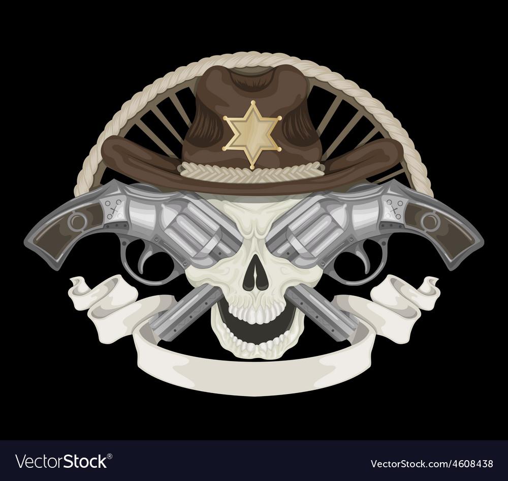 Sheriffs skull vector | Price: 1 Credit (USD $1)