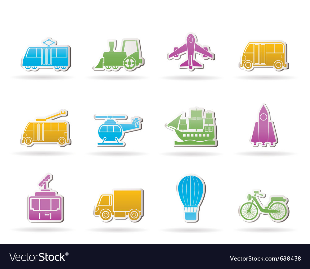 Travel and transportation icons vector   Price: 1 Credit (USD $1)