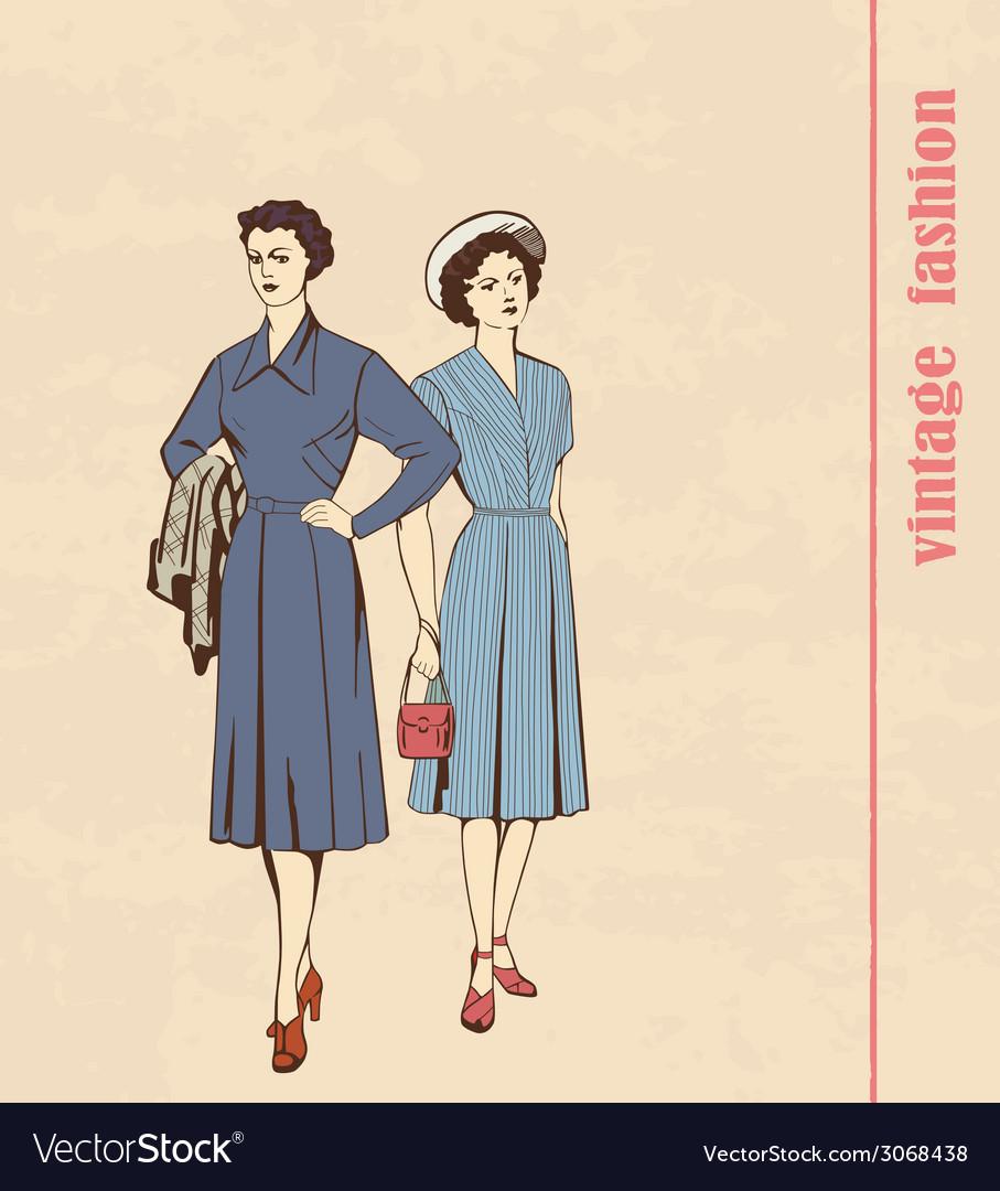 Vintage fashion vector | Price: 1 Credit (USD $1)