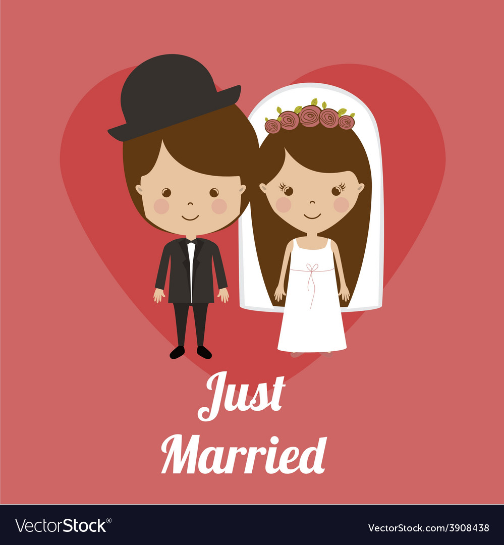 Wedding design over pink background vector | Price: 1 Credit (USD $1)