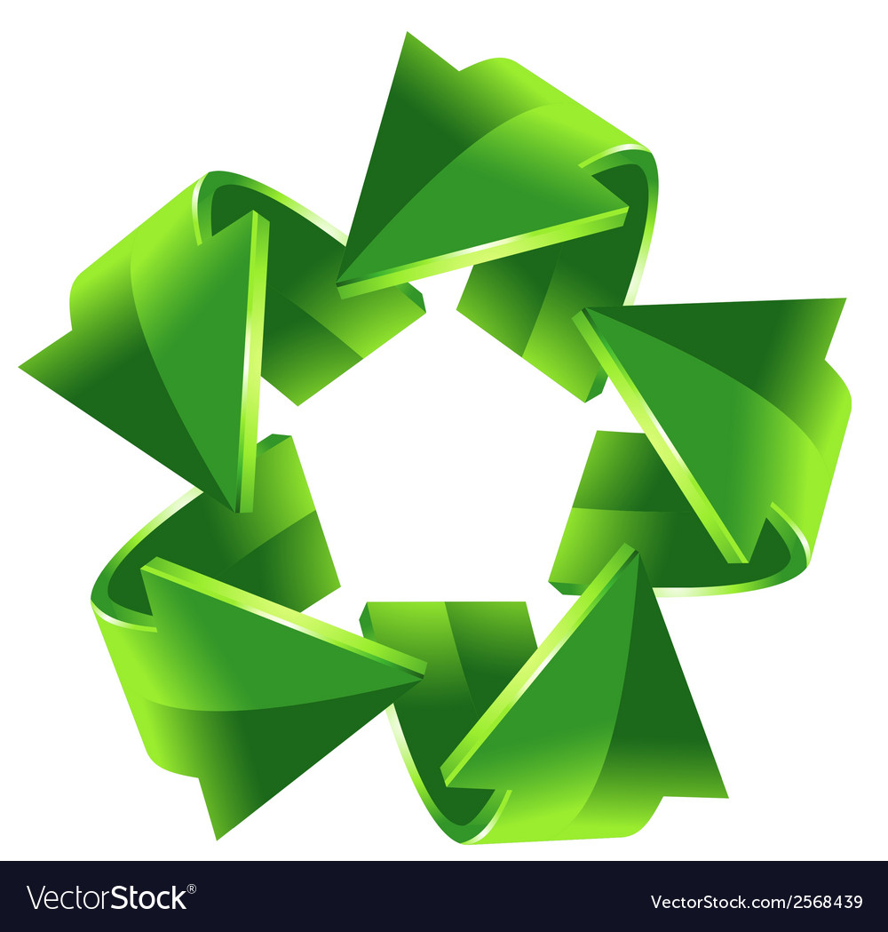 5 green recycling arrows for your design vector | Price: 1 Credit (USD $1)