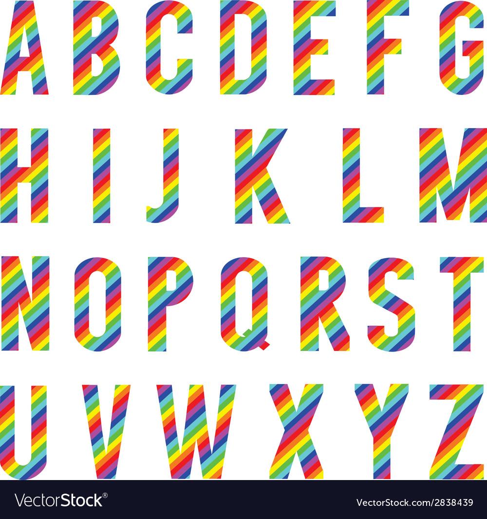 Alphabet rainbow style vector | Price: 1 Credit (USD $1)