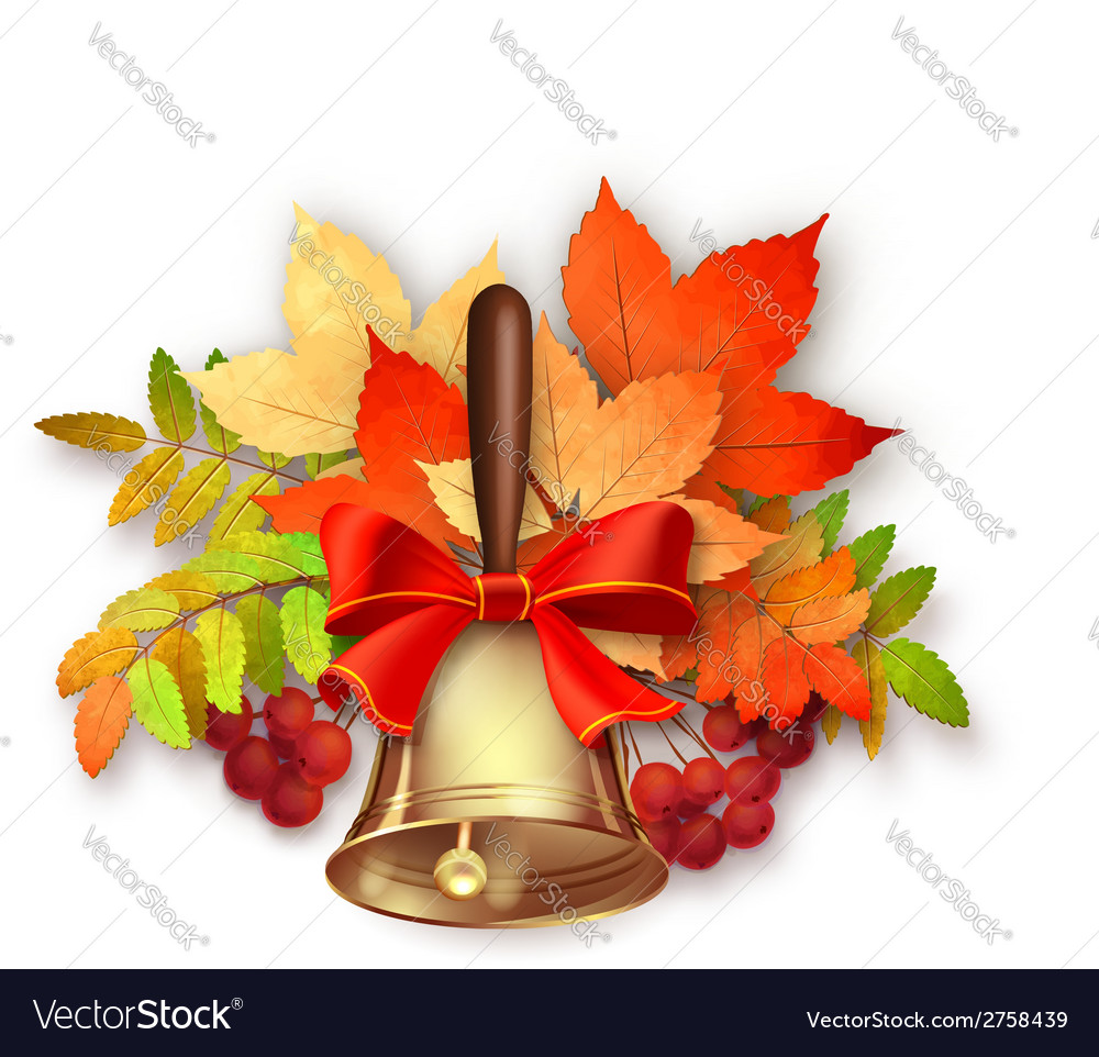 Autumn fall leaves and bell vector | Price: 1 Credit (USD $1)