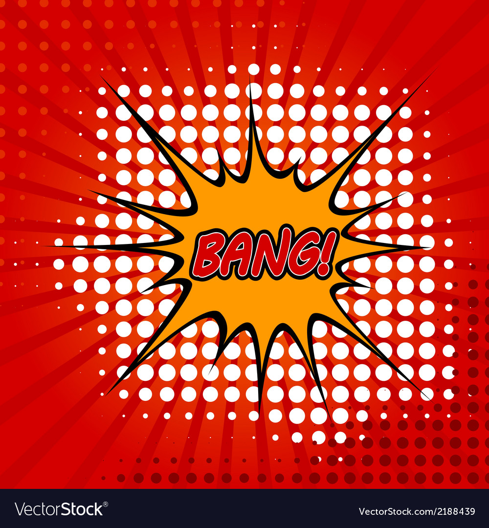 Bang comic speech bubble vector | Price: 1 Credit (USD $1)