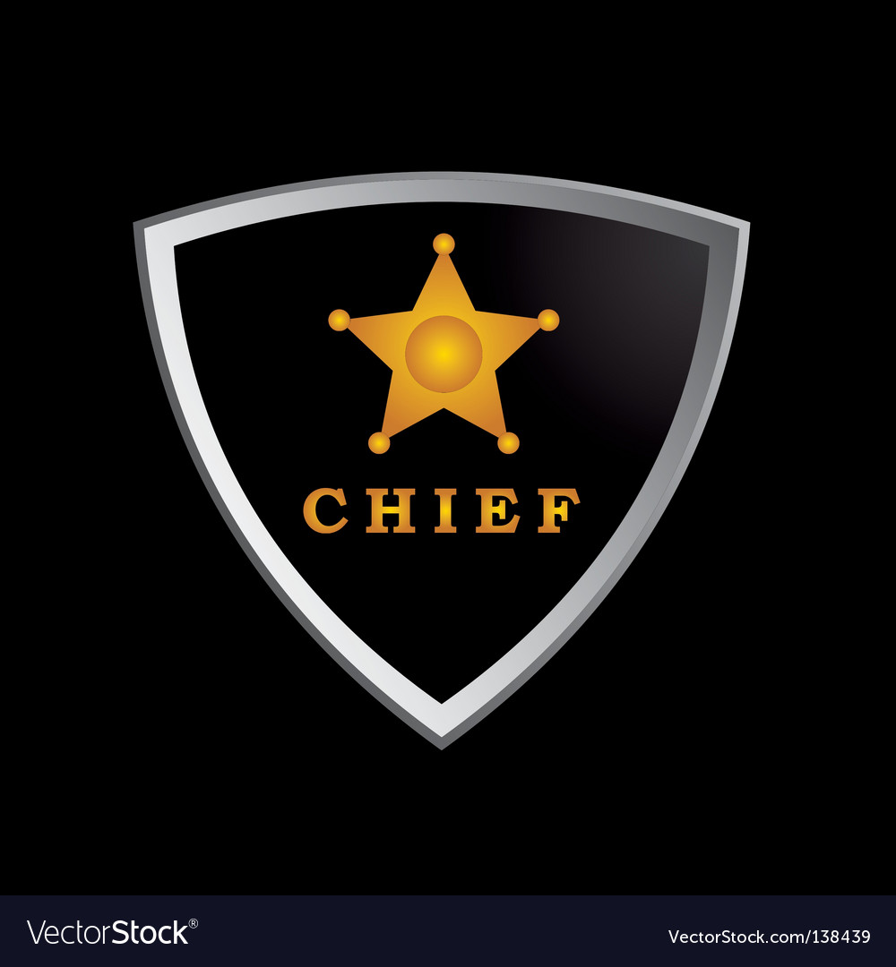 Chief badge vector | Price: 1 Credit (USD $1)
