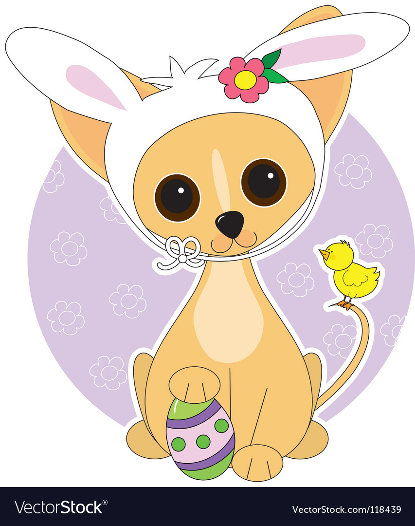 Chihuahua easter vector | Price: 1 Credit (USD $1)