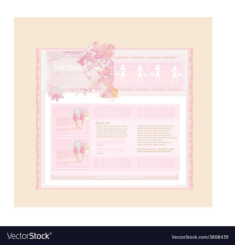 Elegant modern website template vector | Price: 1 Credit (USD $1)