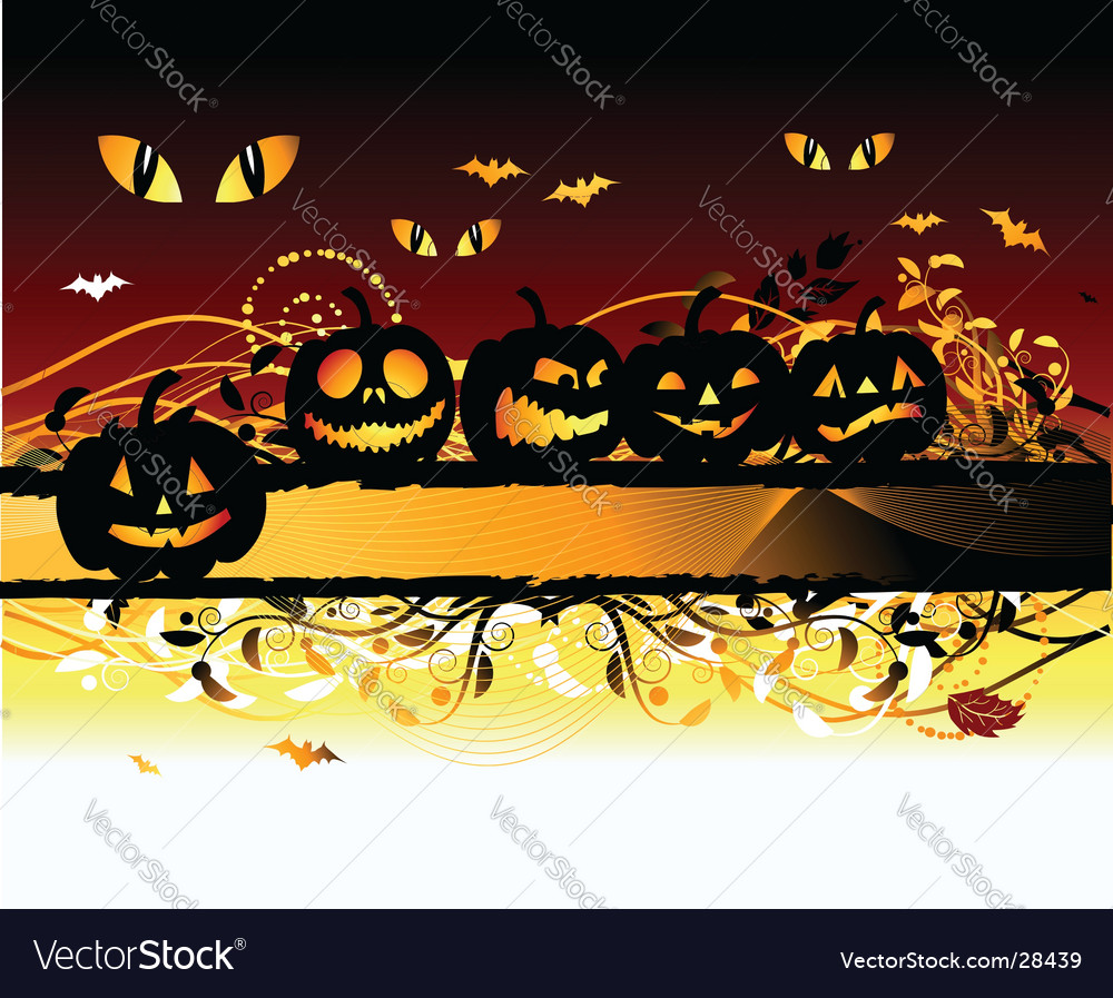 Halloween night background vector | Price: 1 Credit (USD $1)