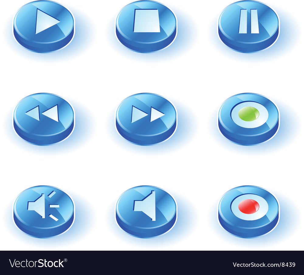 Icon play vector | Price: 1 Credit (USD $1)