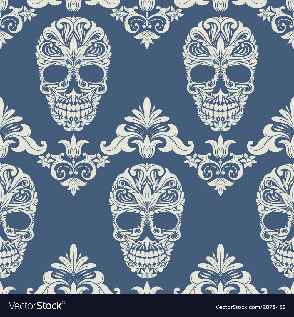 Skull swirl decorative pattern vector | Price: 1 Credit (USD $1)