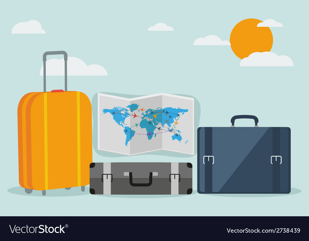 Travel background isolated on stylish background vector | Price: 1 Credit (USD $1)
