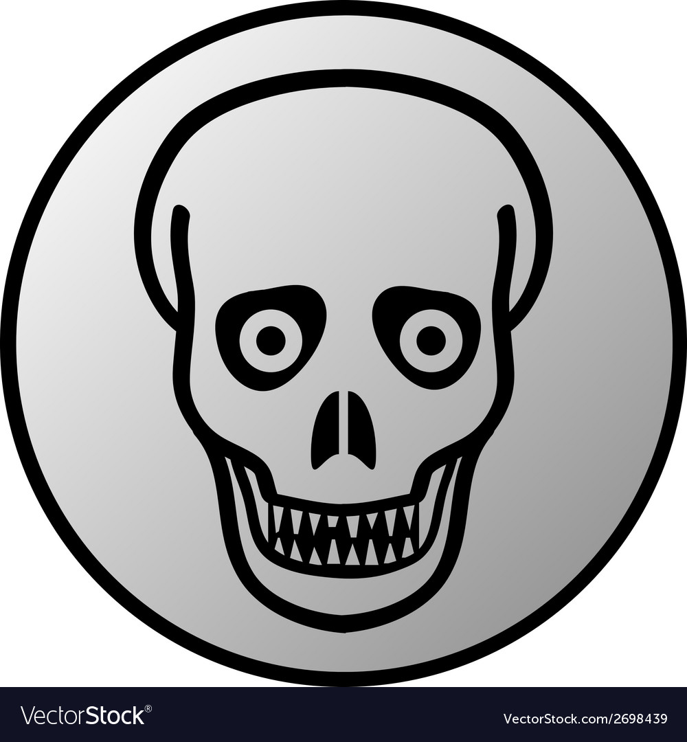 Zombie button vector | Price: 1 Credit (USD $1)