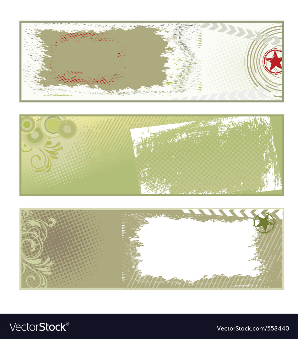 Abstract grunge banners vector | Price: 1 Credit (USD $1)