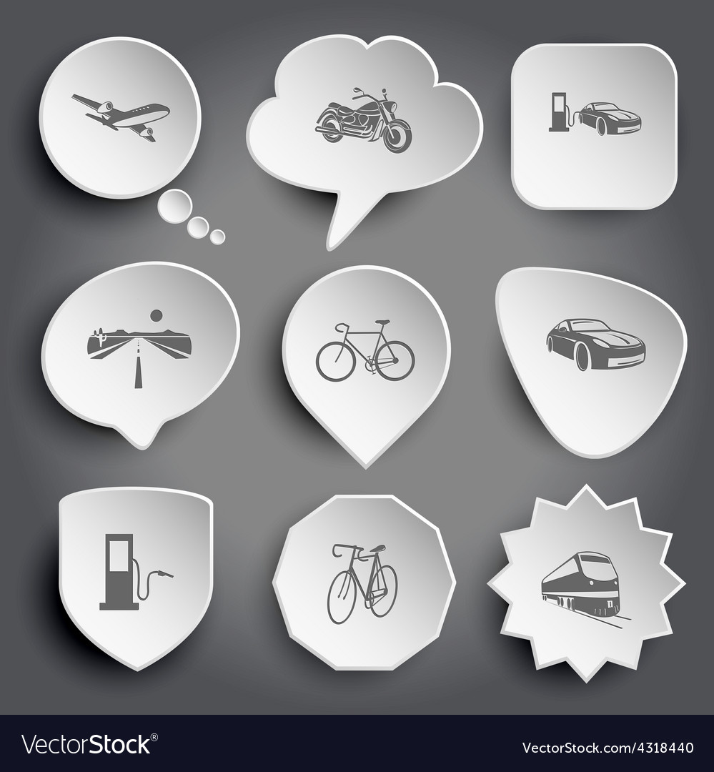 Airliner motorcycle car fueling road bicycle vector | Price: 1 Credit (USD $1)