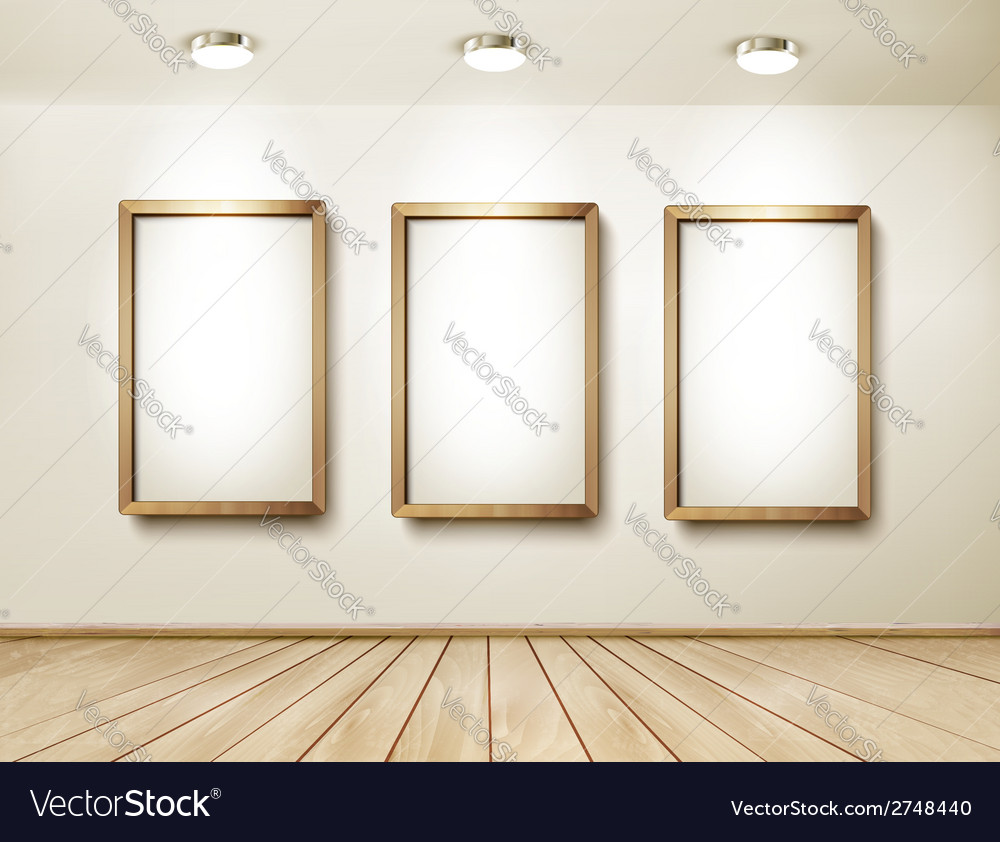 Background with frames and spotlights vector   Price: 1 Credit (USD $1)