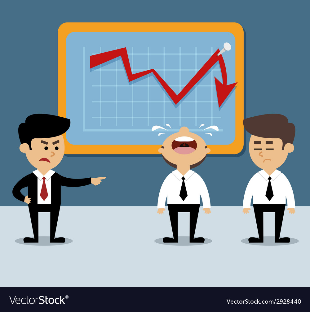 Business chart decrease vector | Price: 1 Credit (USD $1)