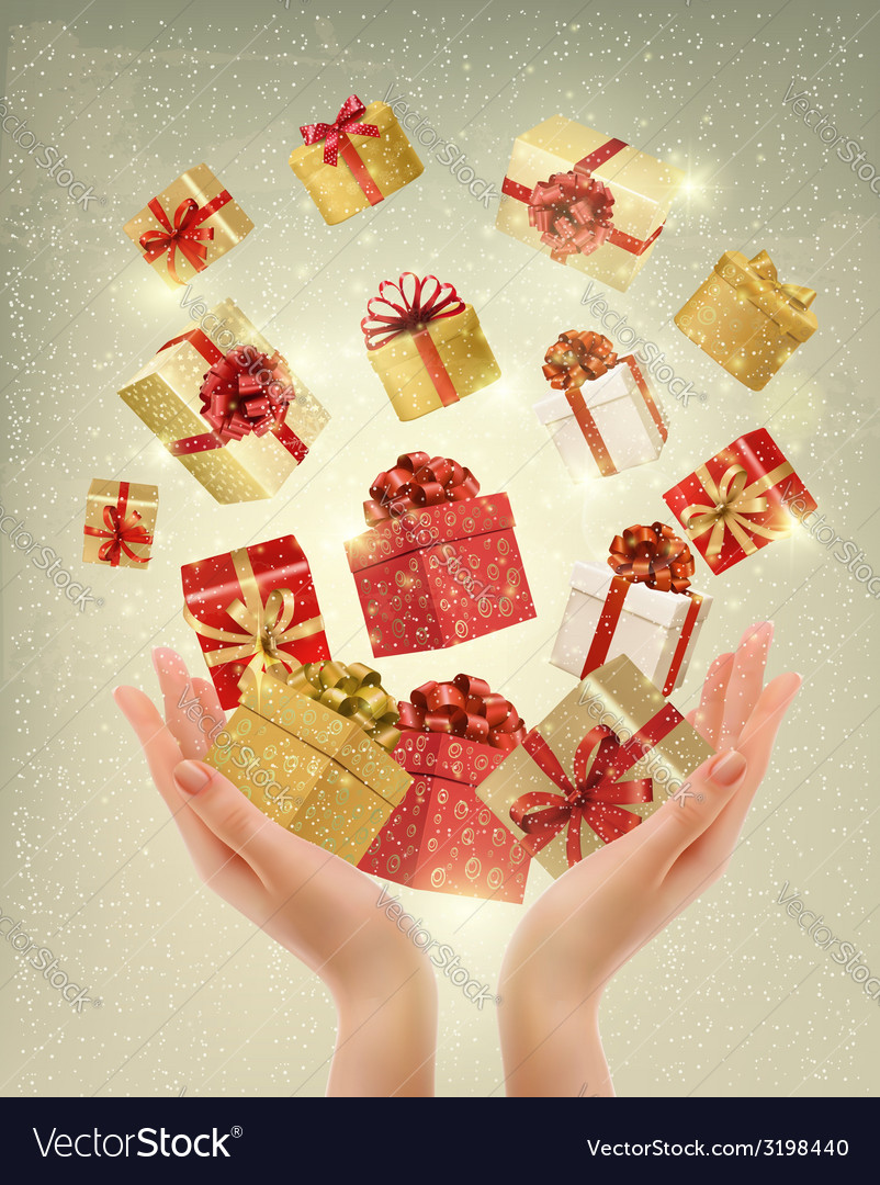 Christmas gold background with gift boxes and vector   Price: 3 Credit (USD $3)