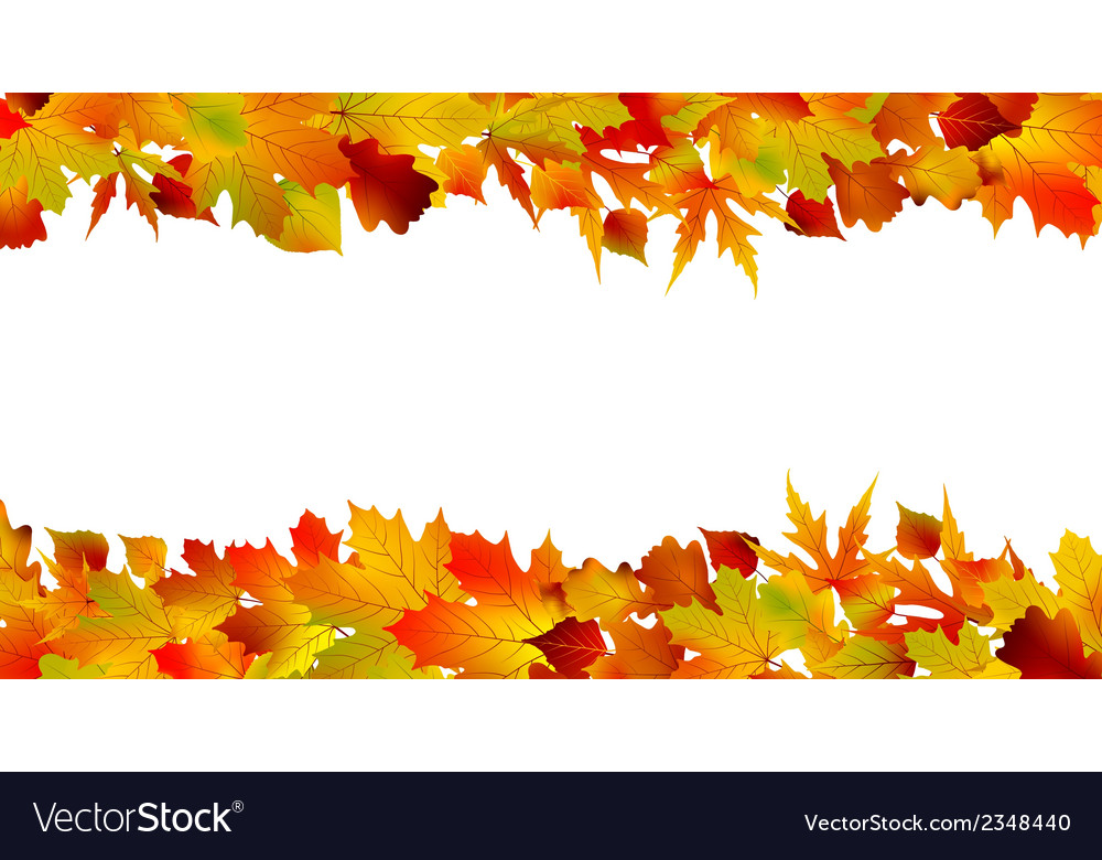 Colorful autumn border made from leaves eps 8 vector | Price: 1 Credit (USD $1)