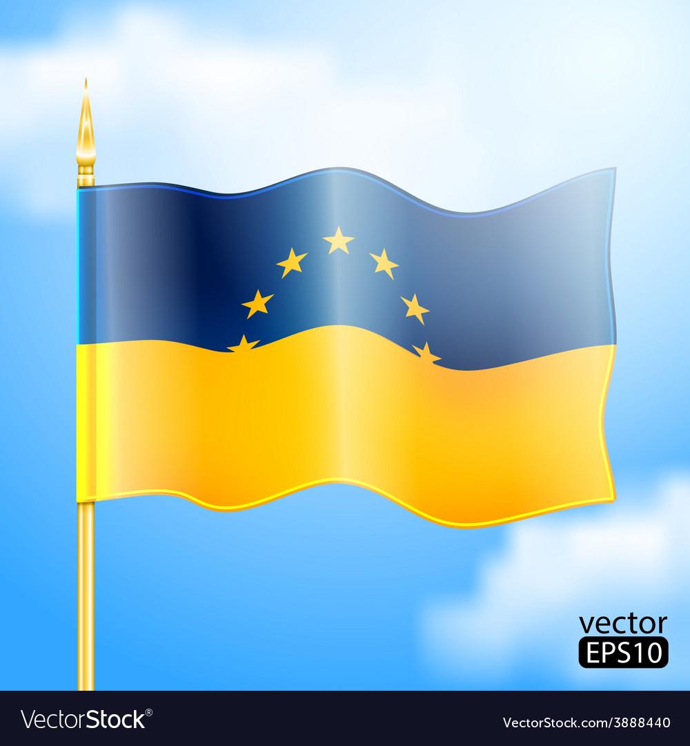Europe ukraine flag vector | Price: 3 Credit (USD $3)