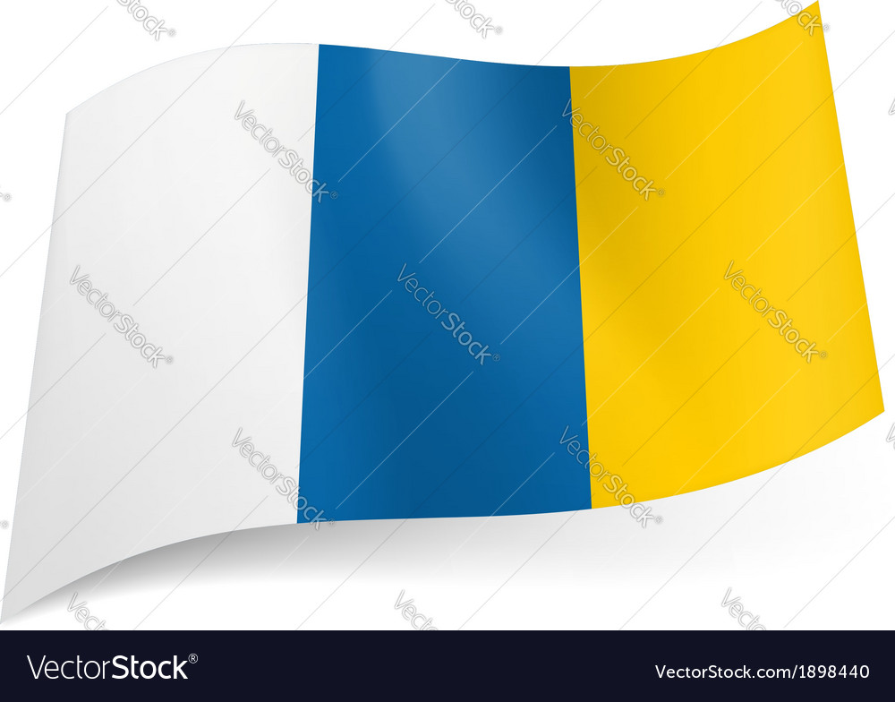 Flag of canary islands vector | Price: 1 Credit (USD $1)