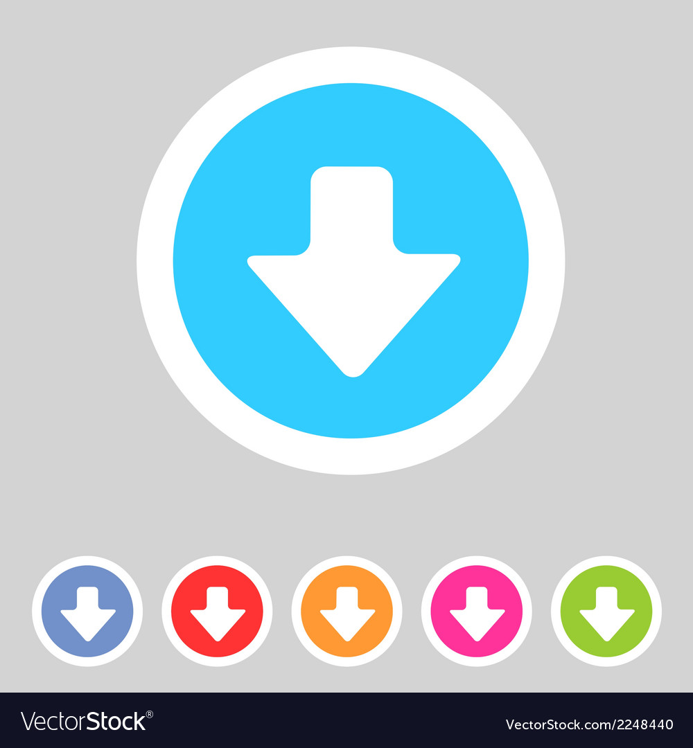 Flat game graphics icon arrow down vector | Price: 1 Credit (USD $1)