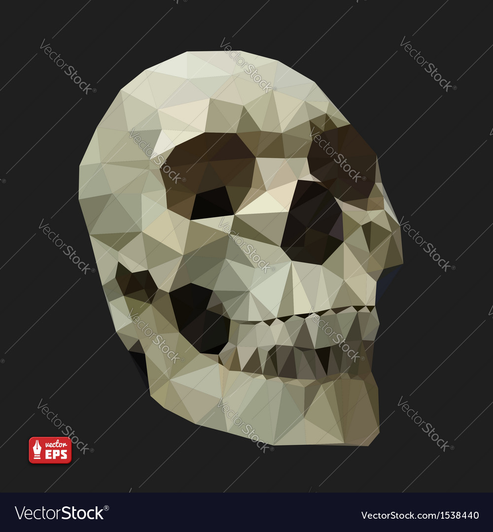 Human skull in a triangular style vector | Price: 1 Credit (USD $1)