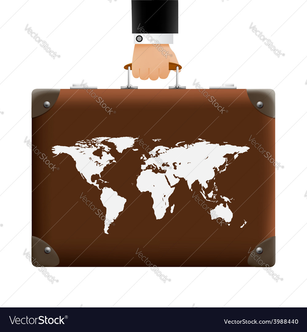 Man carries a suitcase vector | Price: 1 Credit (USD $1)