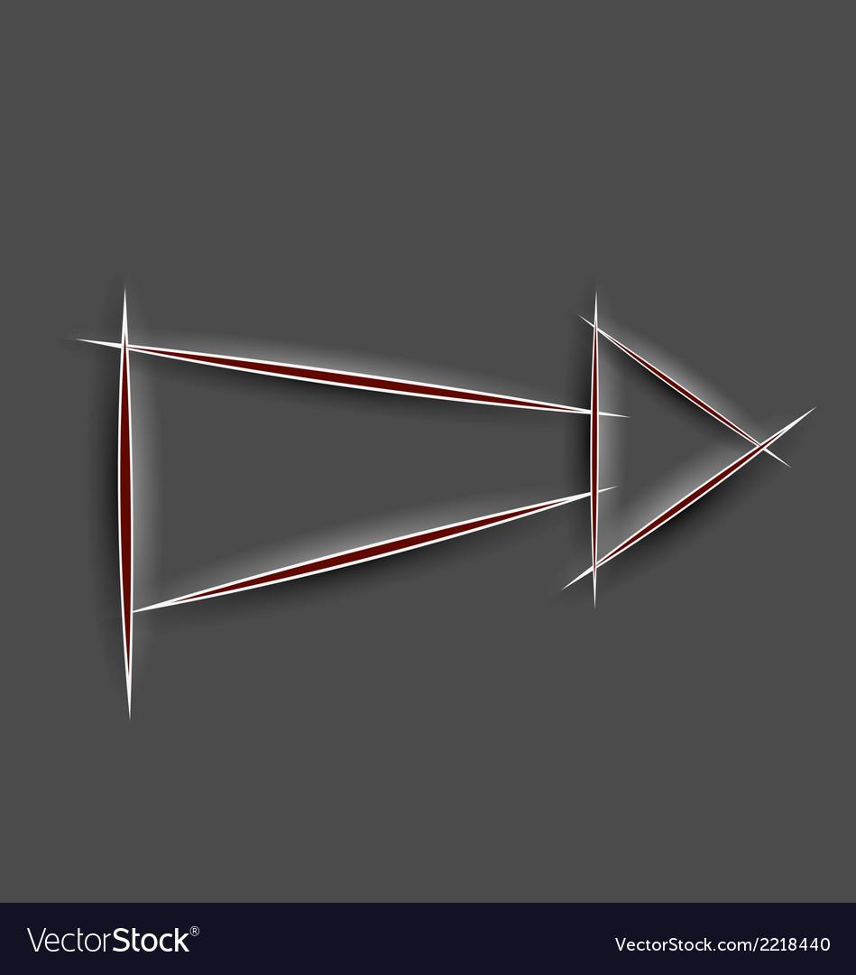 Paper cut arrow vector | Price: 1 Credit (USD $1)