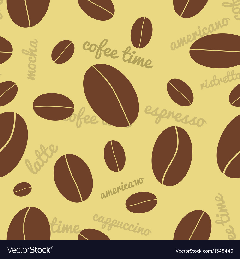 Seamless coffee beans background vector | Price: 1 Credit (USD $1)