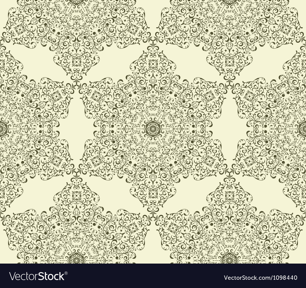Seamless vintage highly detailed hexagon pattern vector | Price: 1 Credit (USD $1)