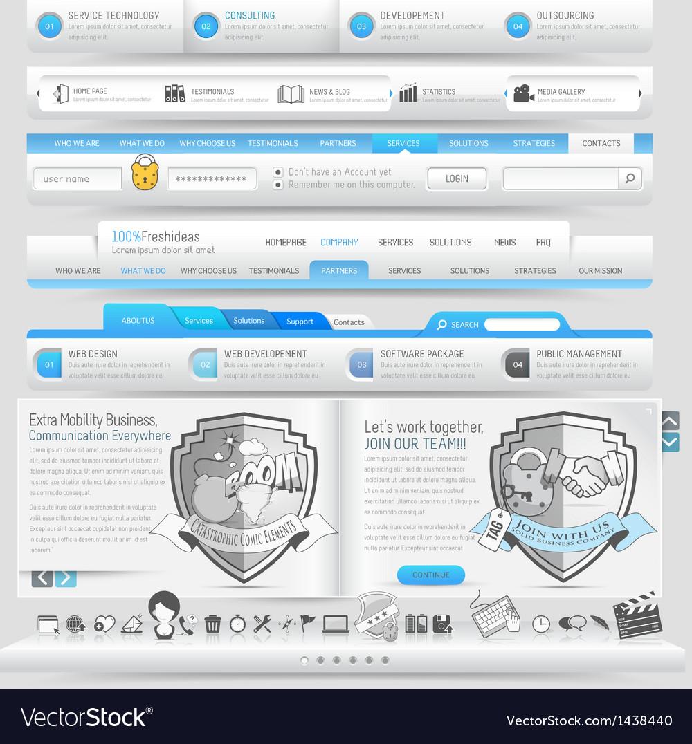 Website navigation vector | Price: 1 Credit (USD $1)