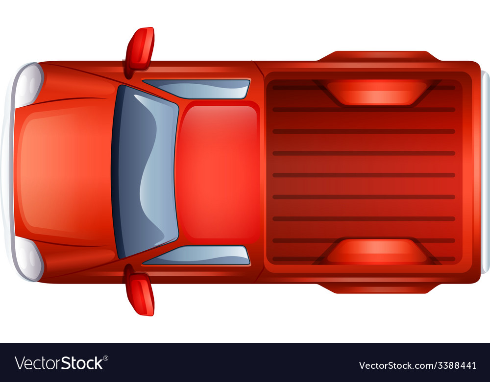 A pick-up vehicle vector | Price: 1 Credit (USD $1)