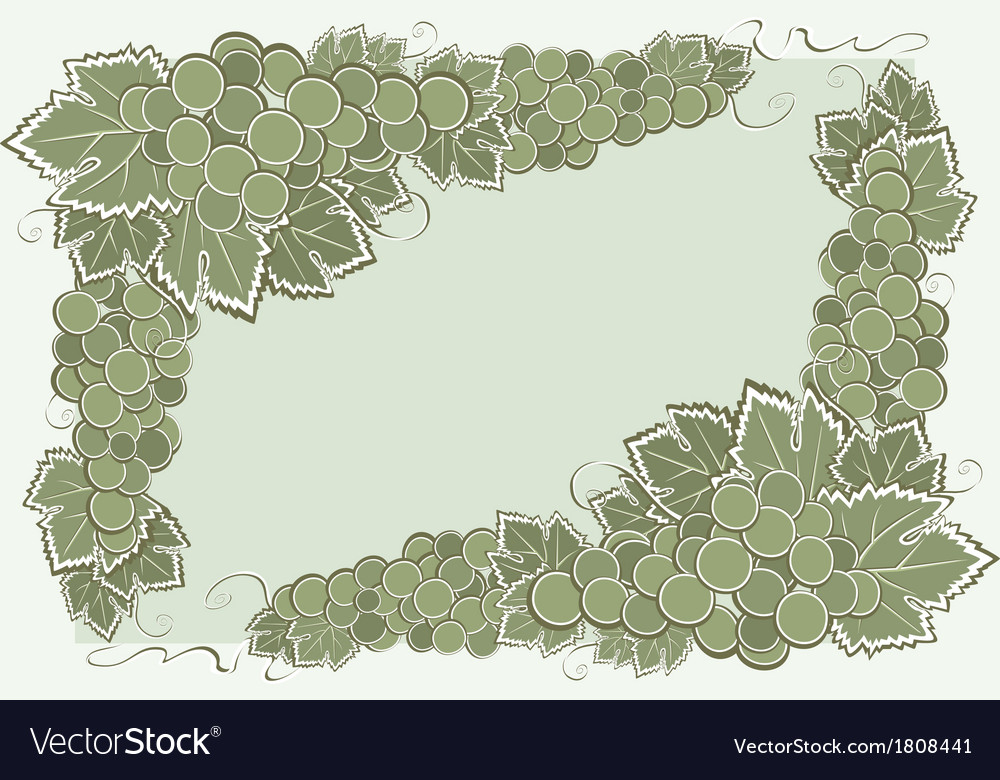 Border with grape vector | Price: 1 Credit (USD $1)