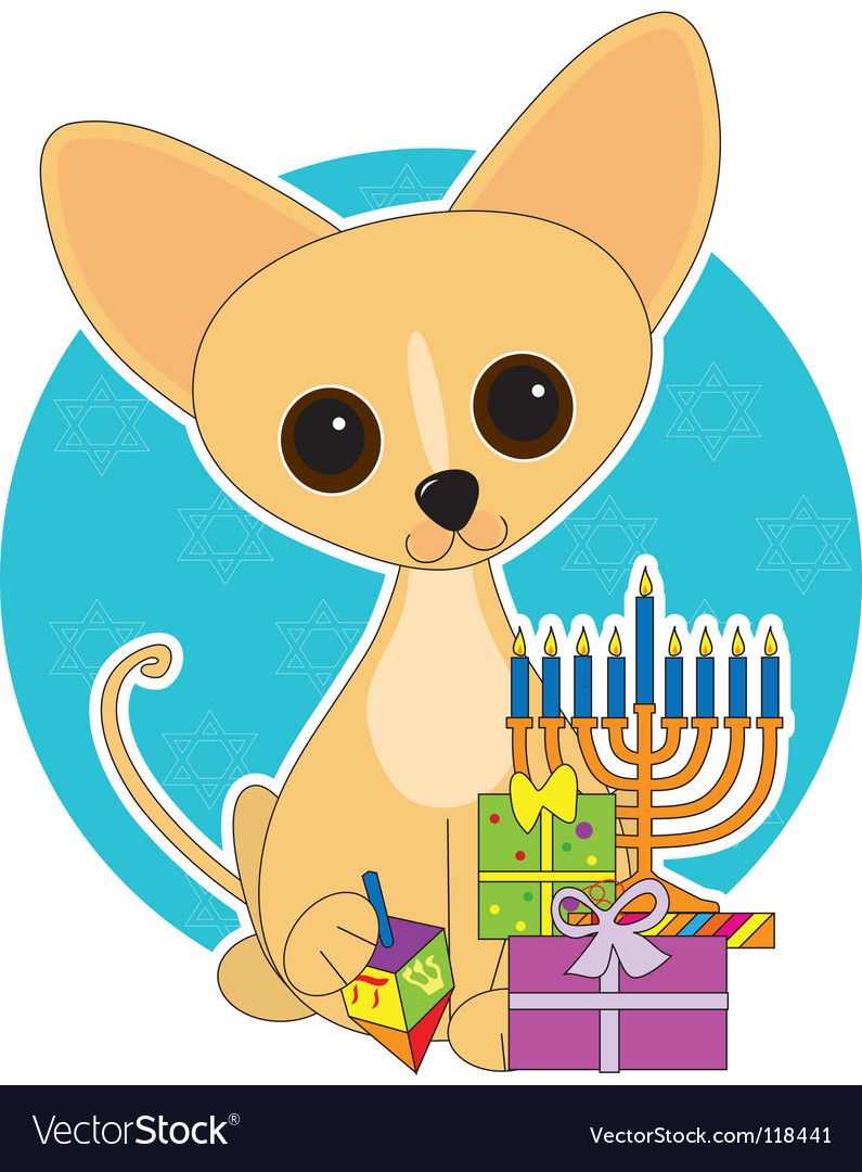 Chihuahua hanukkah vector | Price: 1 Credit (USD $1)