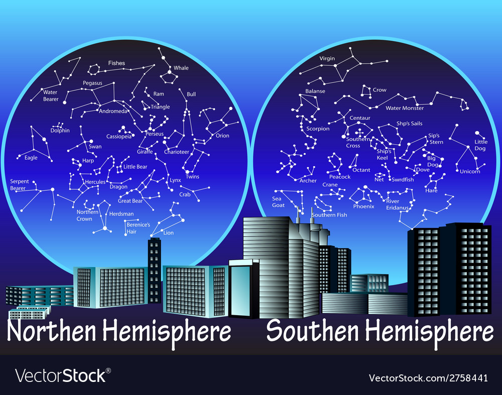 Constellations of hemisphere vector | Price: 1 Credit (USD $1)