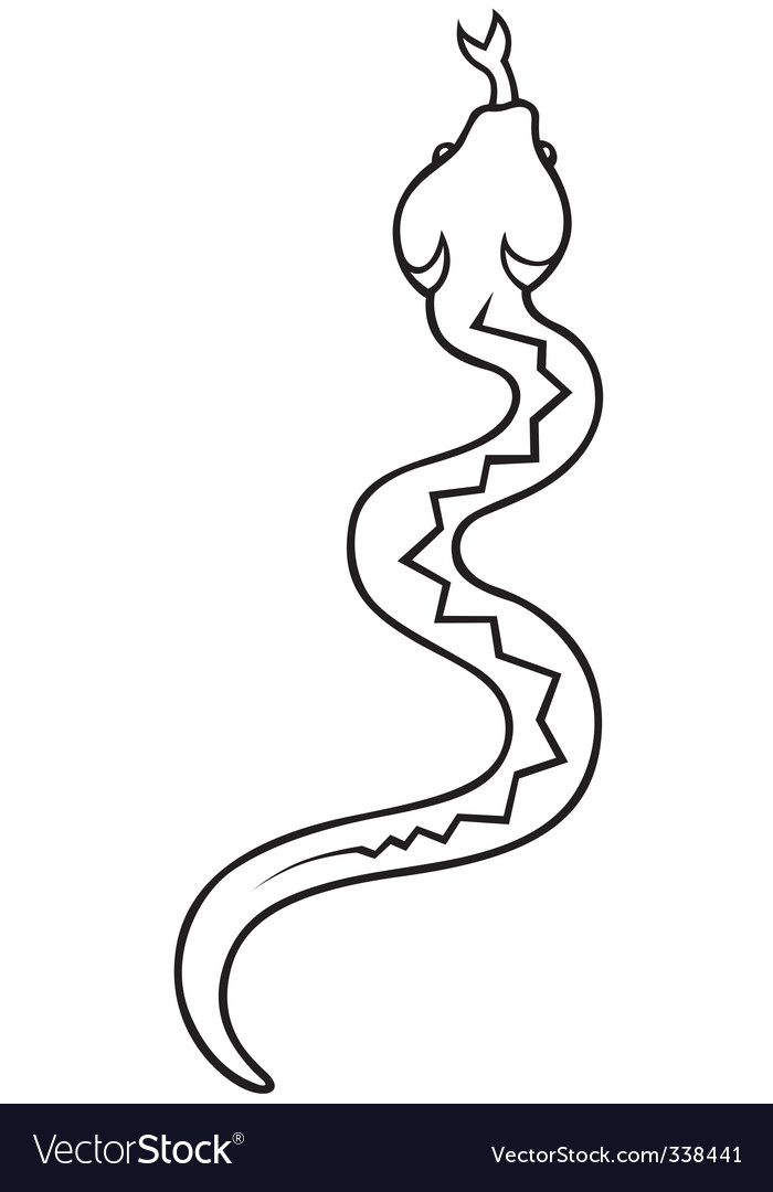 Crawling snake vector | Price: 1 Credit (USD $1)