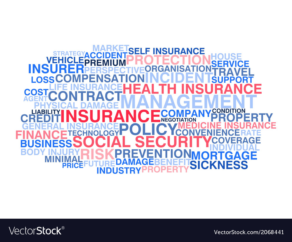 Insurance word cloud vector | Price: 1 Credit (USD $1)