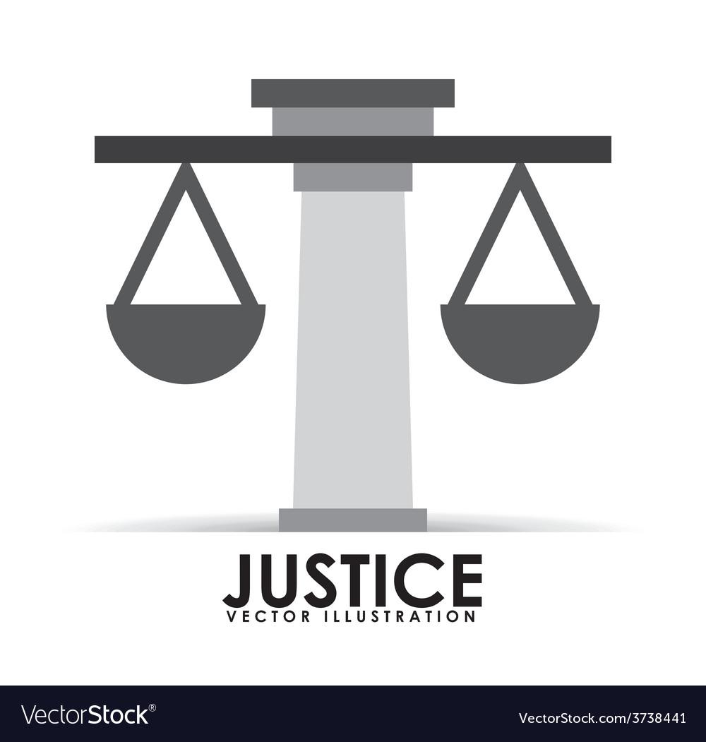 Justice icon design vector | Price: 1 Credit (USD $1)