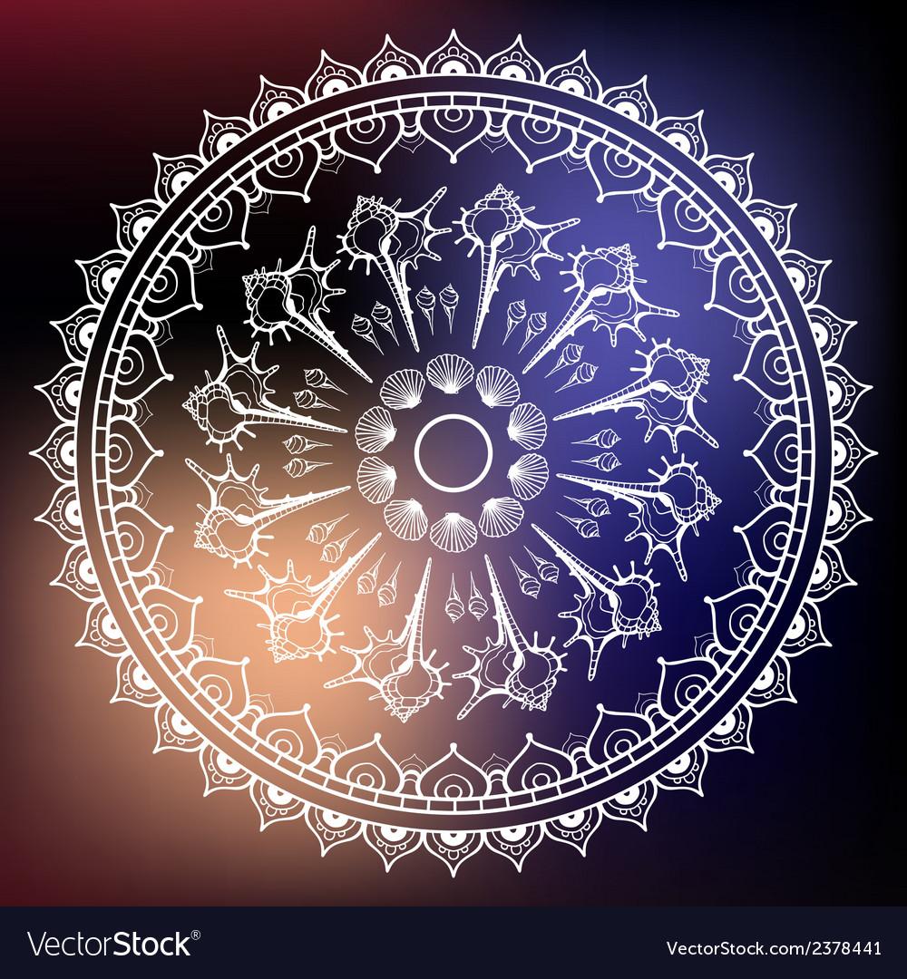 Mandala made of seashells vector | Price: 1 Credit (USD $1)