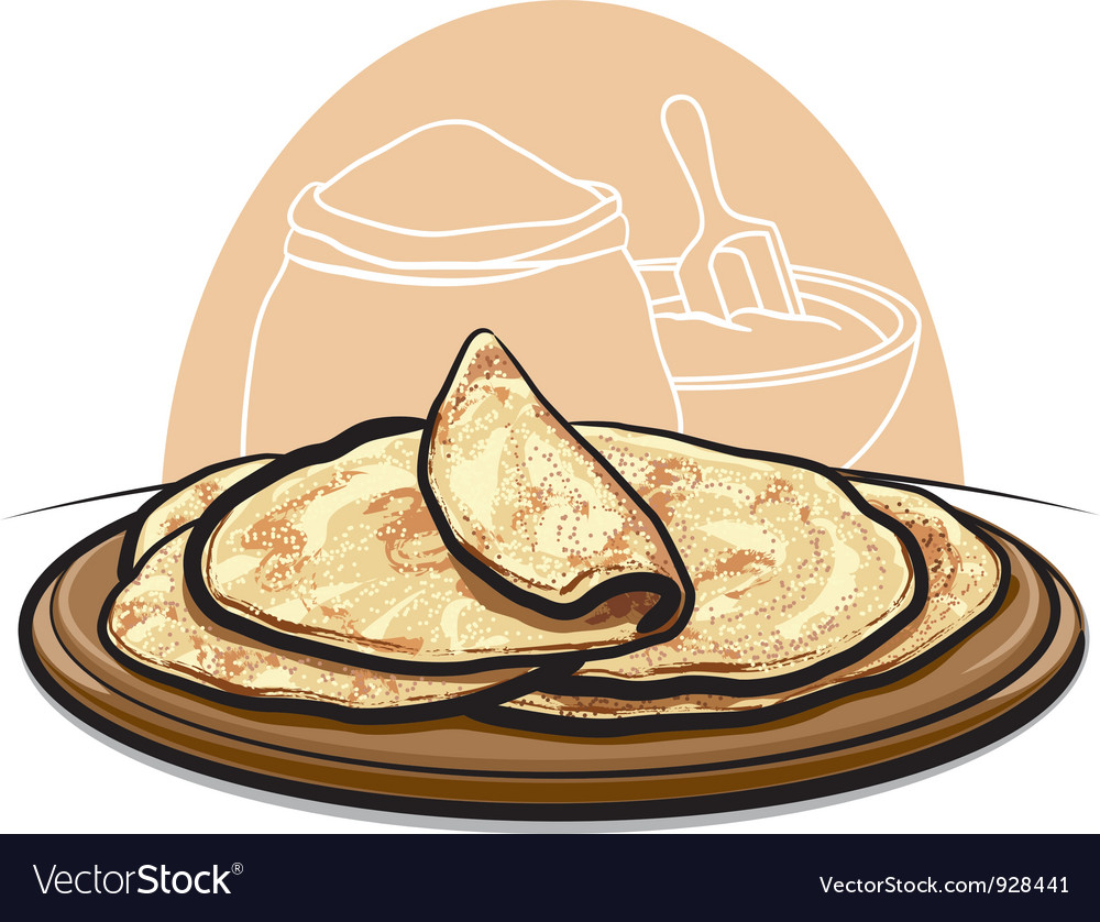 Pita bread vector | Price: 3 Credit (USD $3)