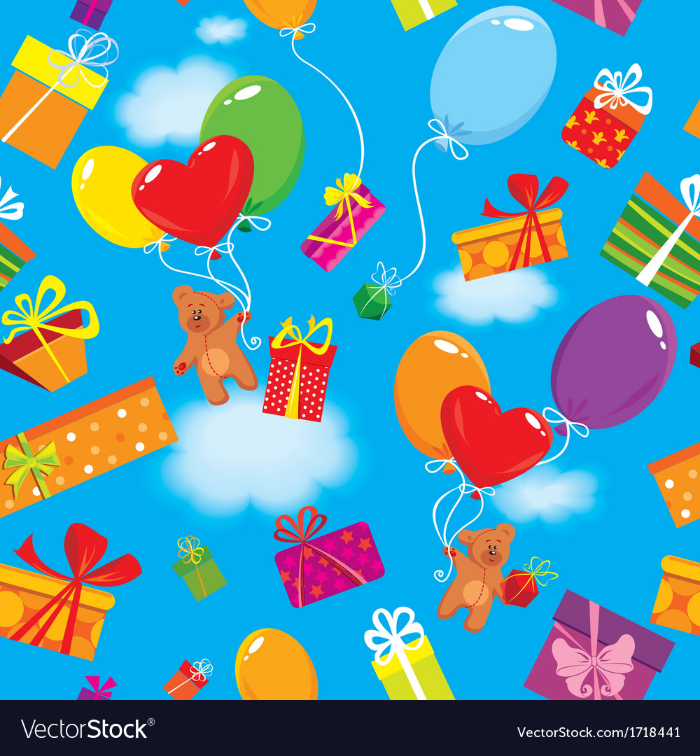 Seamless pattern with colorful gift boxes present vector | Price: 1 Credit (USD $1)