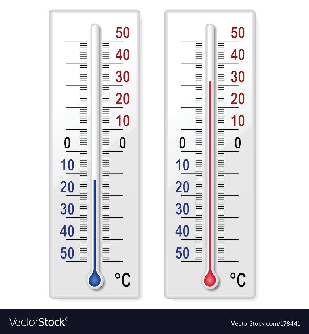 Set of thermometers vector