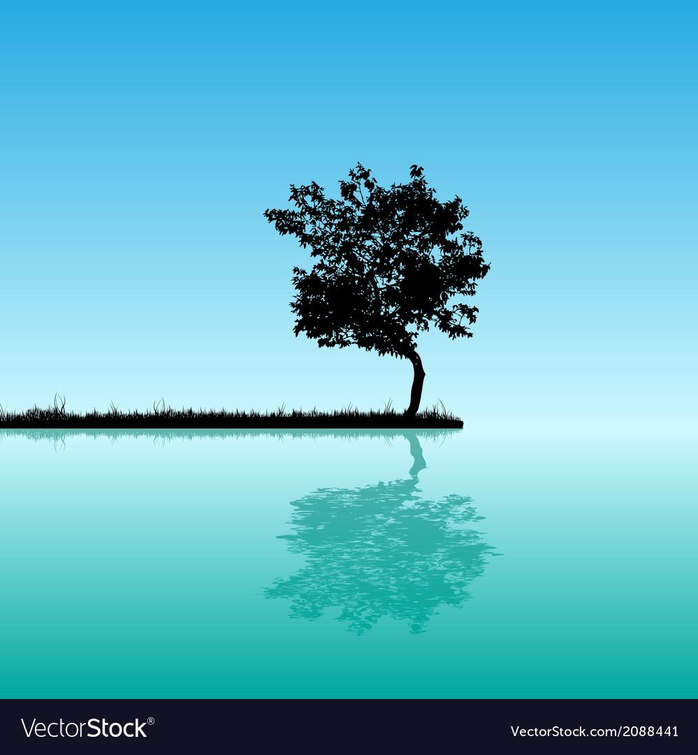 Tree background vector | Price: 1 Credit (USD $1)