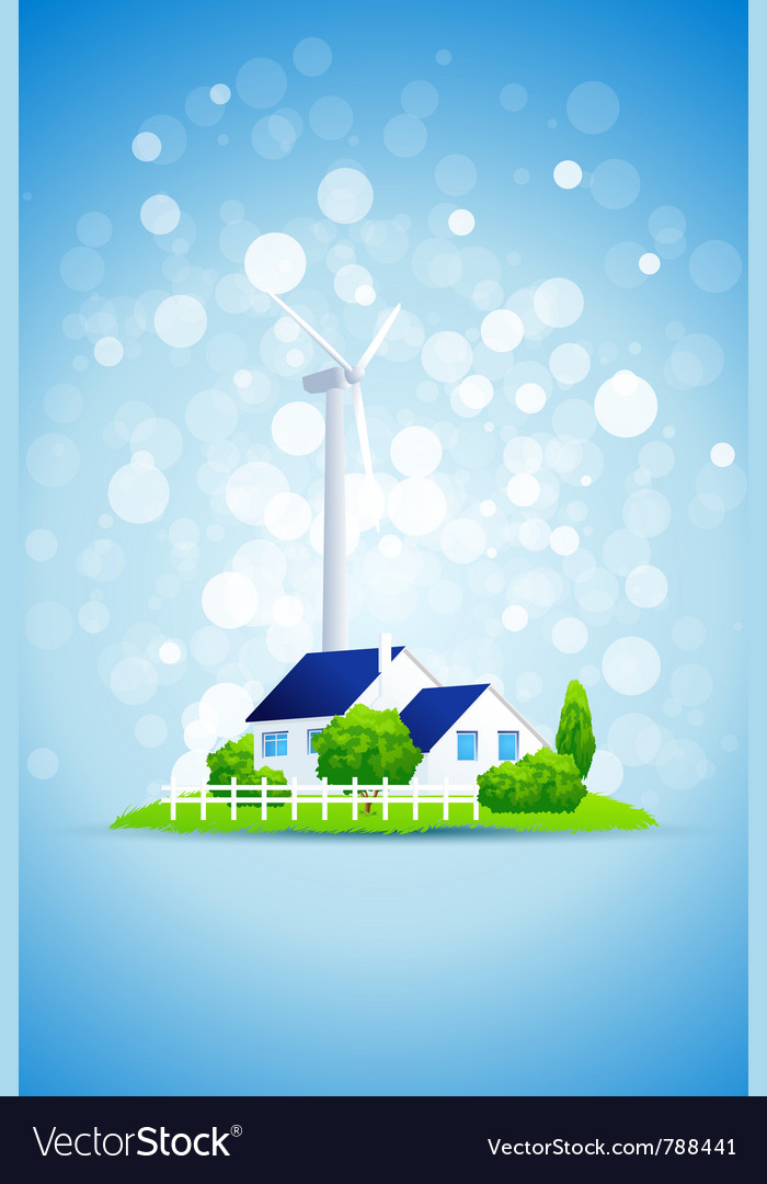 Wind turbine vector | Price: 3 Credit (USD $3)
