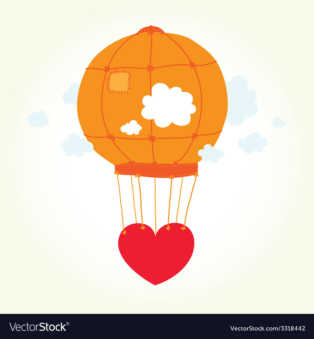 Balloon heart vector | Price: 1 Credit (USD $1)