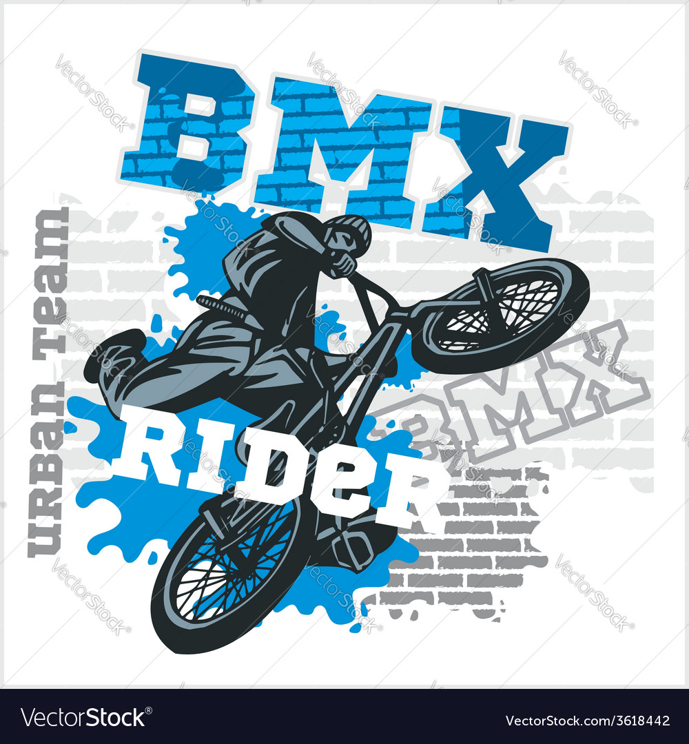 Bmx rider - urban team design vector | Price: 1 Credit (USD $1)